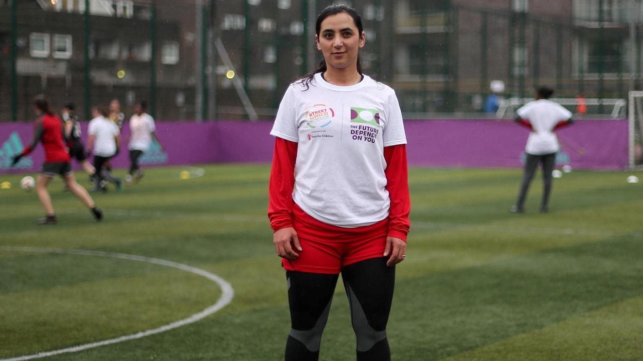 L'ex-capitaine de l'équipe nationale afghane féminine de soccer, Khalida Popal