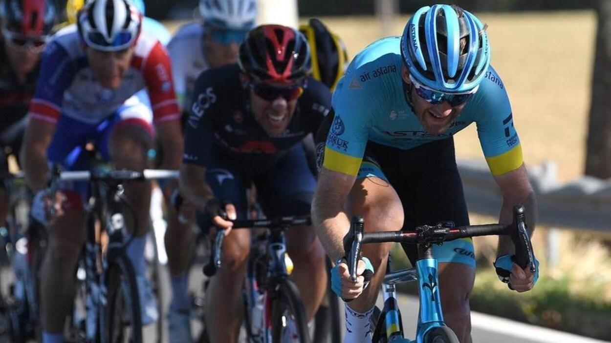 Hugo Houle en action au Tour de France