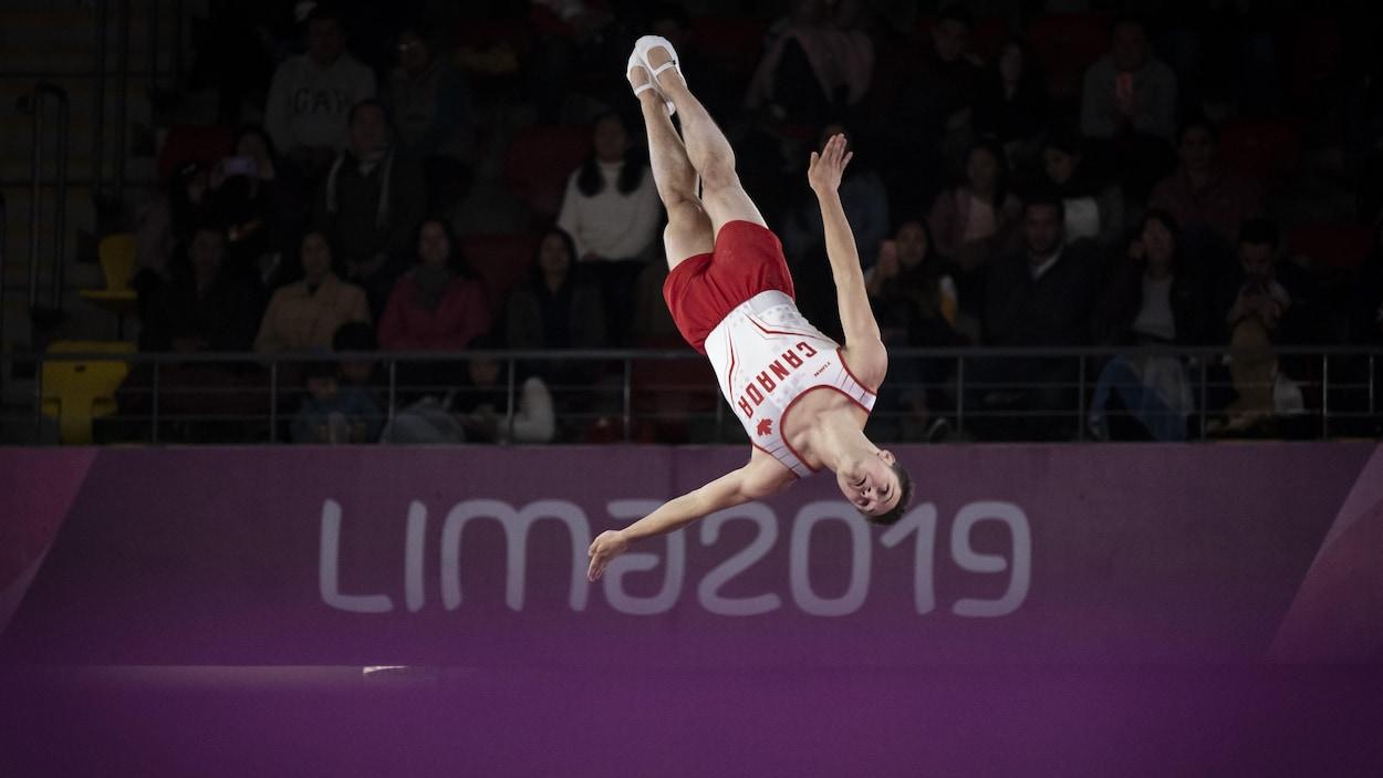 Il est en action aux Jeux panaméricains.