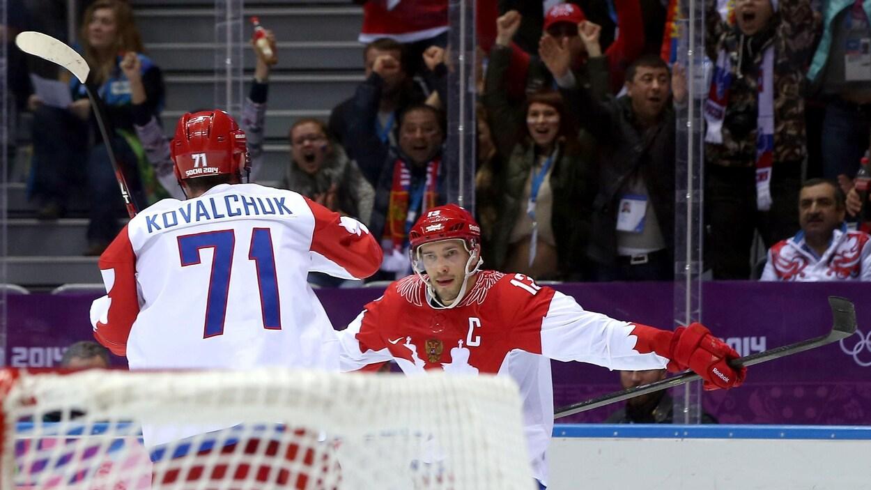 Datsyuk et Kovalchuk dans l'équipe des athlètes olympiques de la Russie