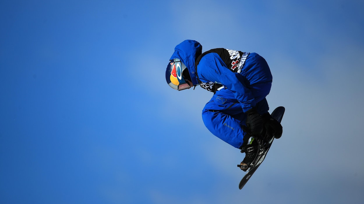 Mark McMorris lors de la finale du slopestyle aux X Games d'Aspen, au Colorado