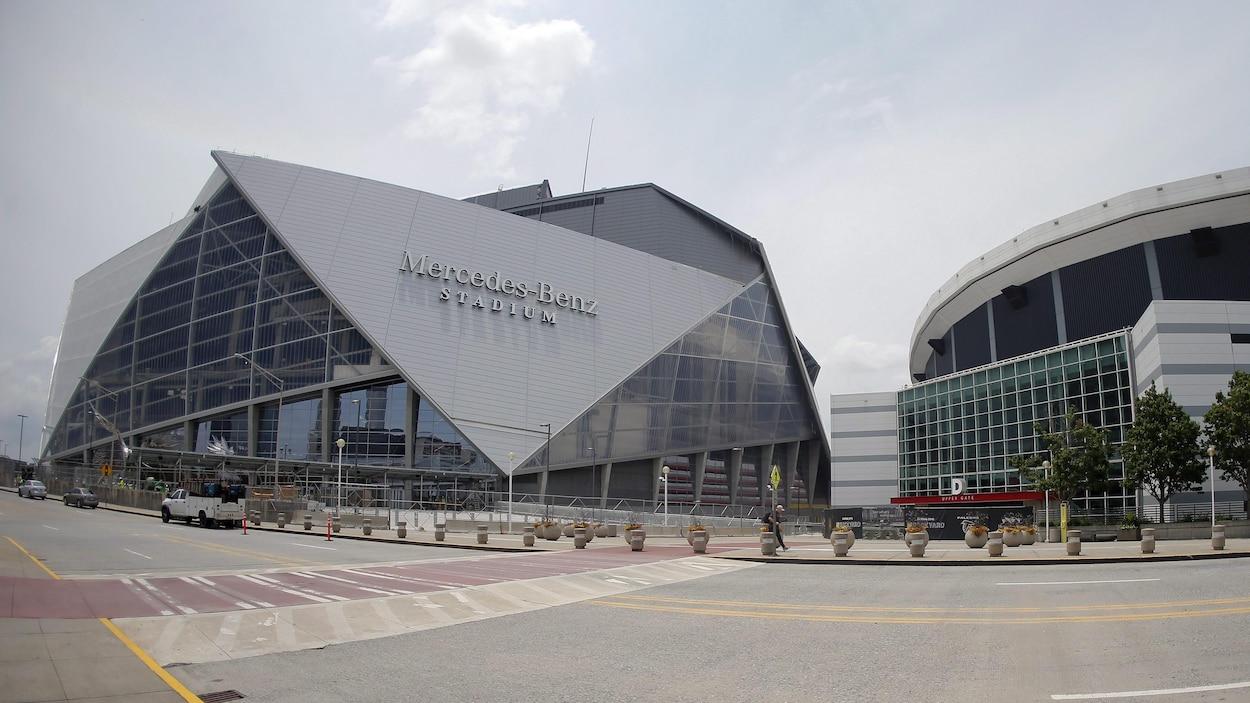 Le stade Mercedes Benz, domicile de l'Atlanta United dans la MLS et des Falcons d'Atlanta dans la NFL
