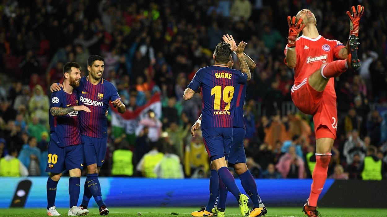 Le Barça poursuit son sans-faute, Digne buteur