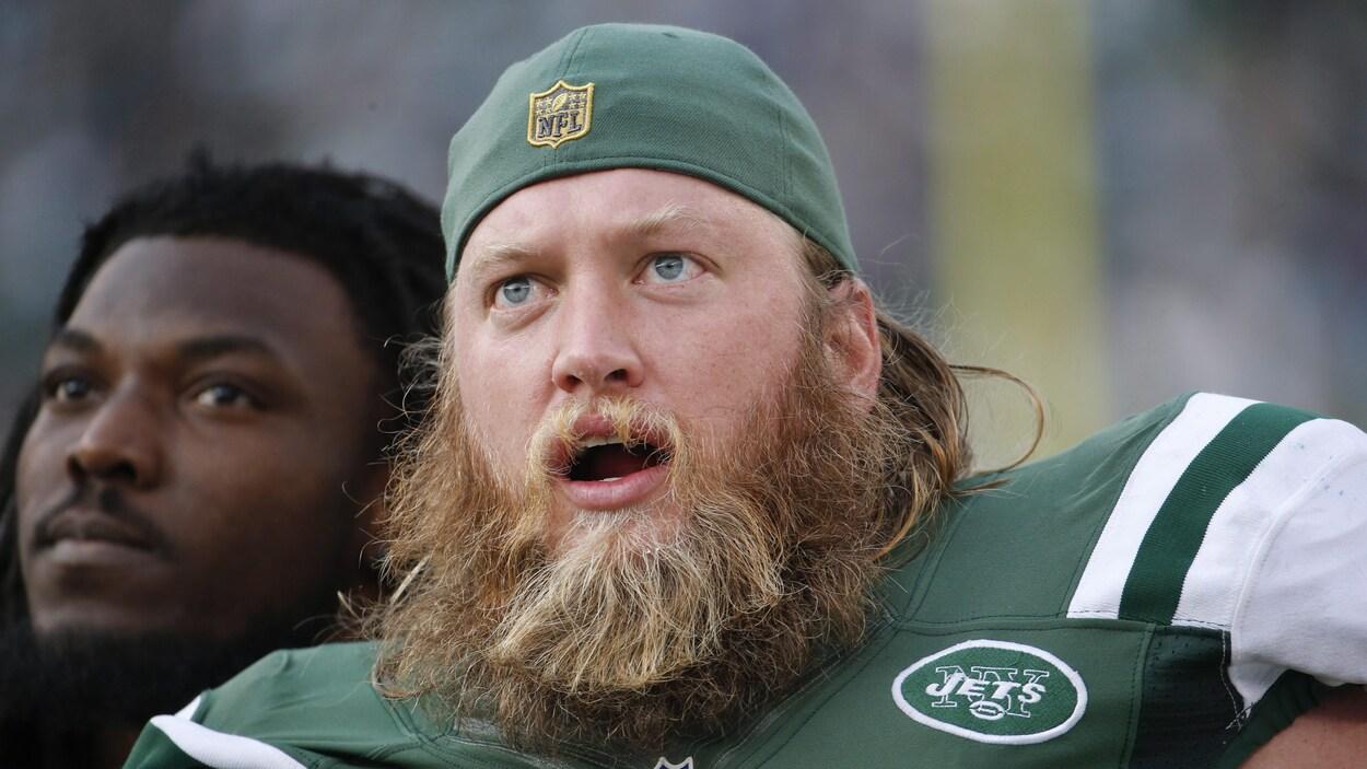 Nick Mangold et sa barbe drue