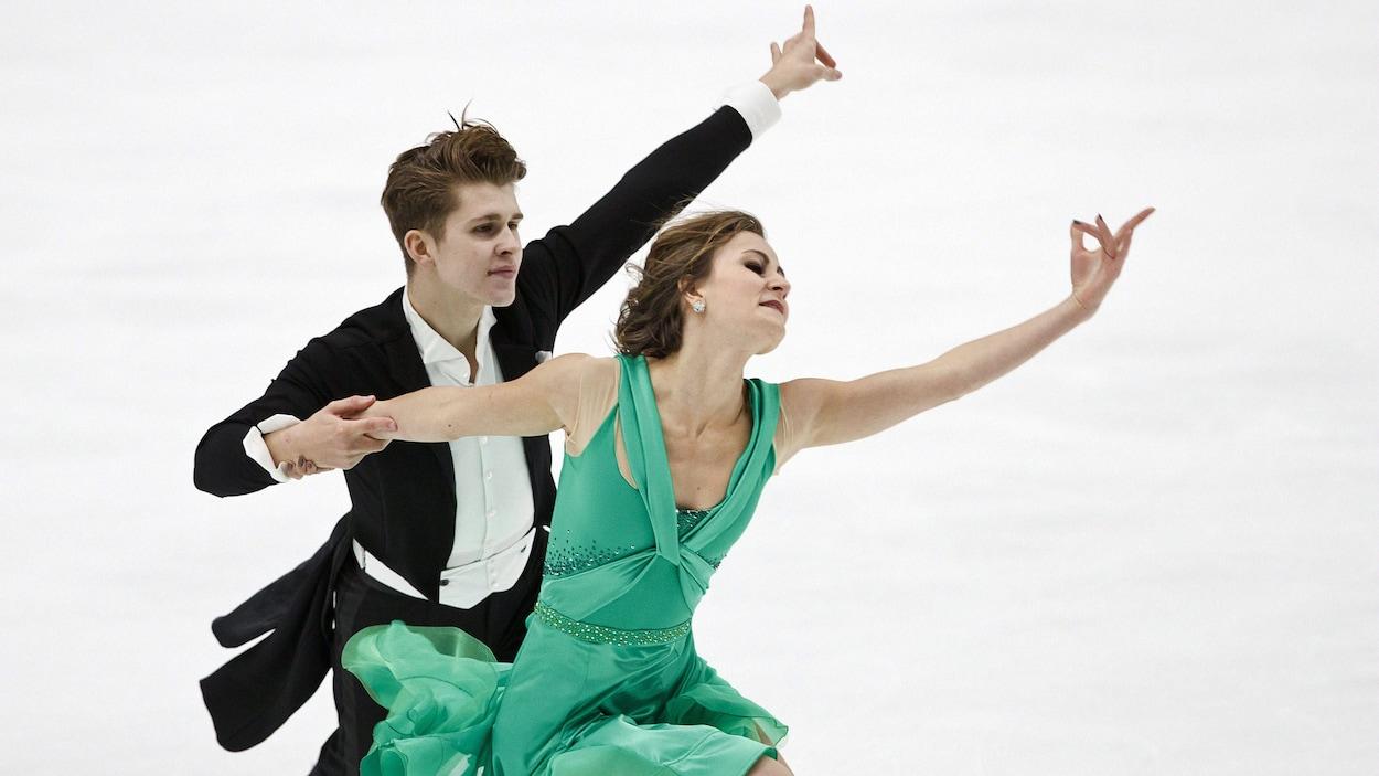 Le duo canadien composé de Carolane Soucisse et Liam Firus a terminé en 4e position en danse lors de l'Omnium Finlandia de patinage artistique.