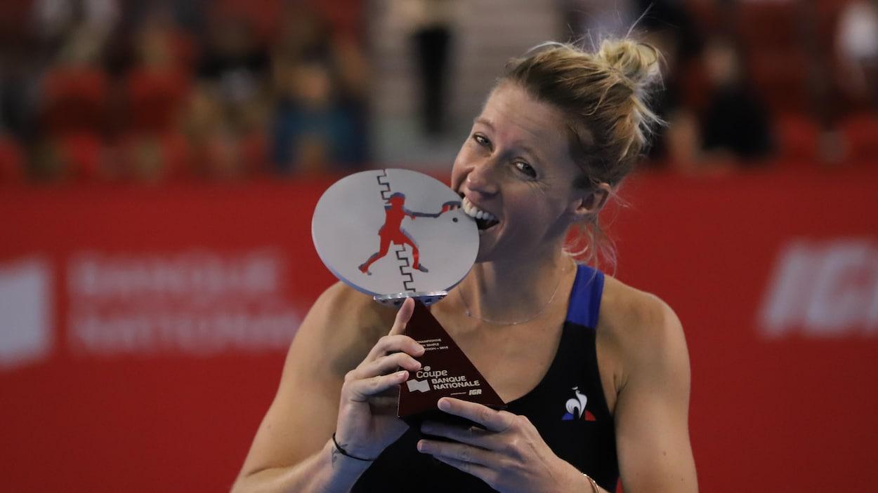 La Française Pauline Parmentier a battu l'Américaine Jessica Pegula en finale de la Coupe Banque Nationale à Québec