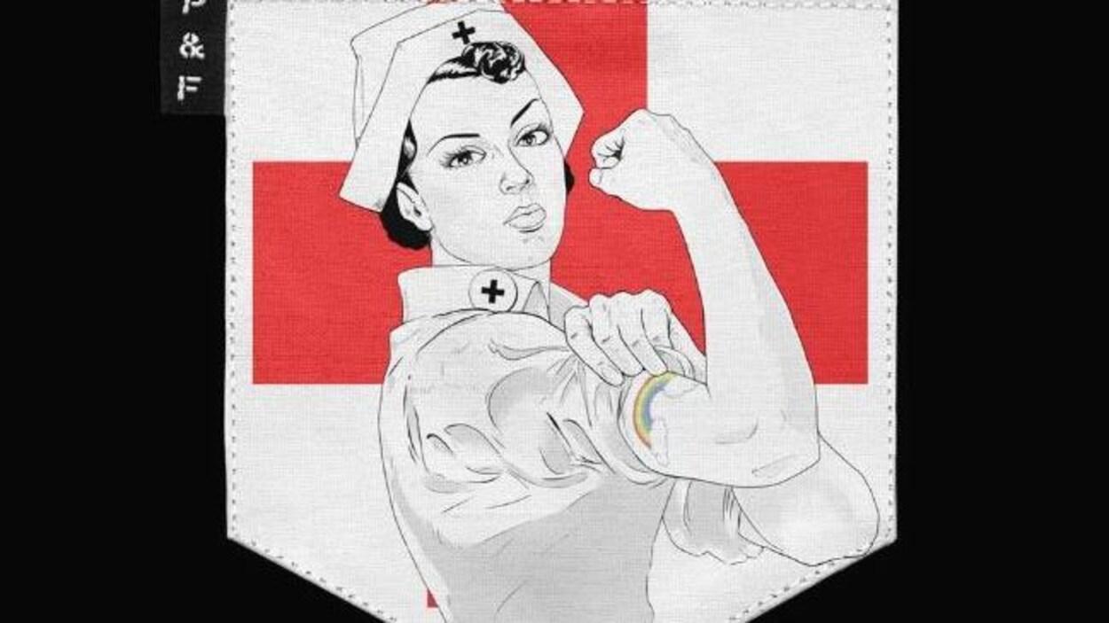 Une représentation d'une infirmière au travail