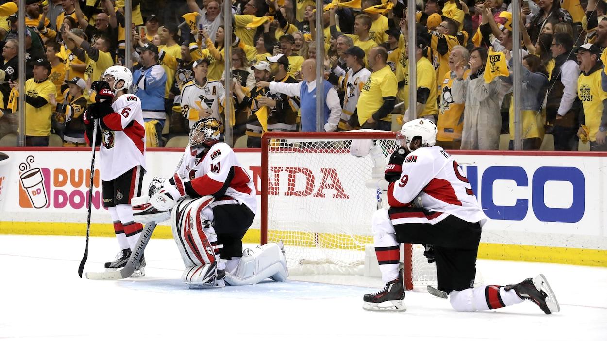 Les Sénateurs d'Ottawa éliminés par les Penguins de Pittsburgh.