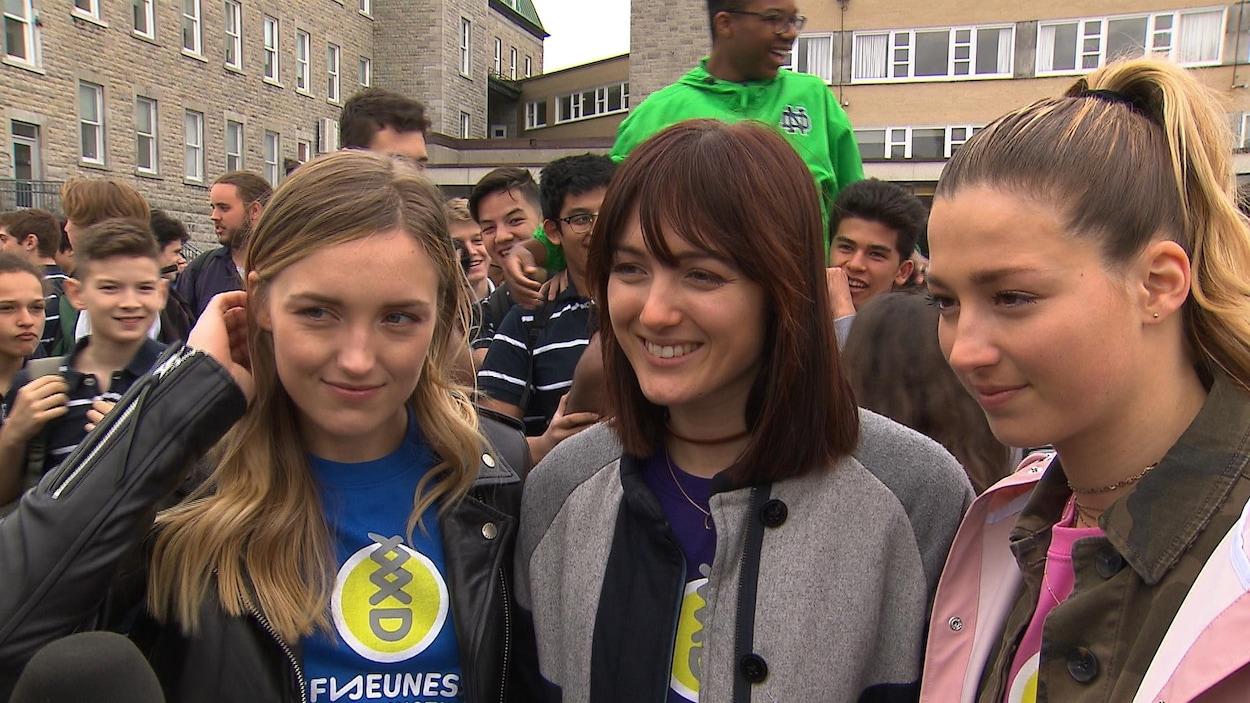 Justine, Maxime et Chloé Dufour-Lapointe