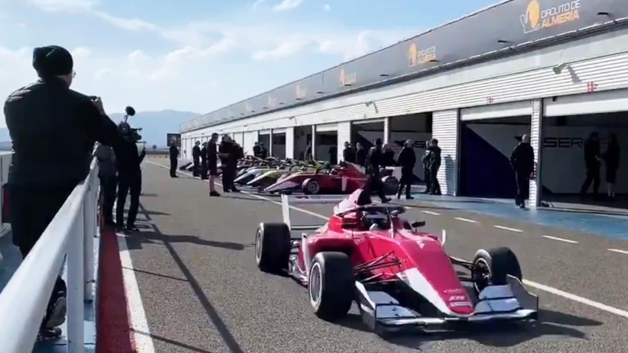 Les 28 finalistes invitées au circuit d'Almeria pour le camp de sélection de la W Series.