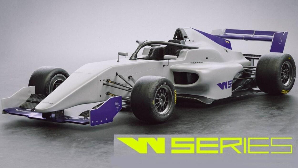 La monoplace de type F3 du constructeur italien Tatuus pour la W Series