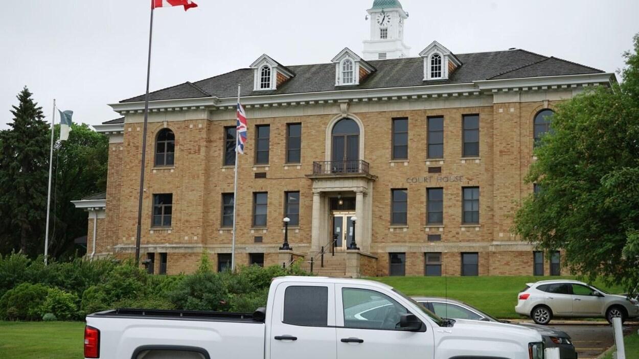 Le bâtiment abritant la Cour du Banc de la Reine de Prince Albert.