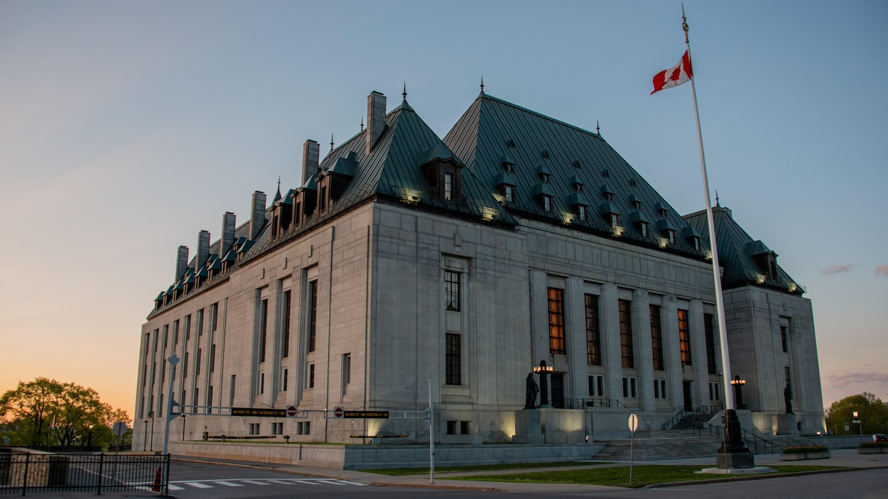 Le bâtiment de la Cour suprême du Canada, à Ottawa.