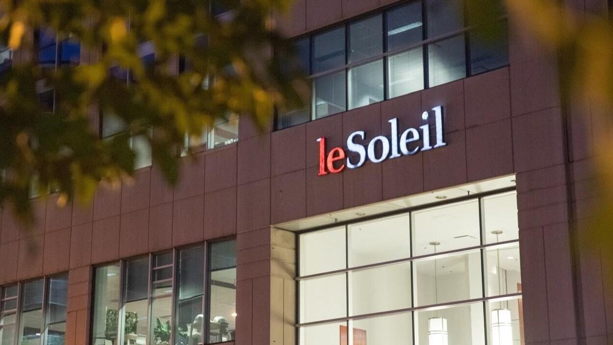 L'édifice qui abrite le quotidien « Le Soleil ».