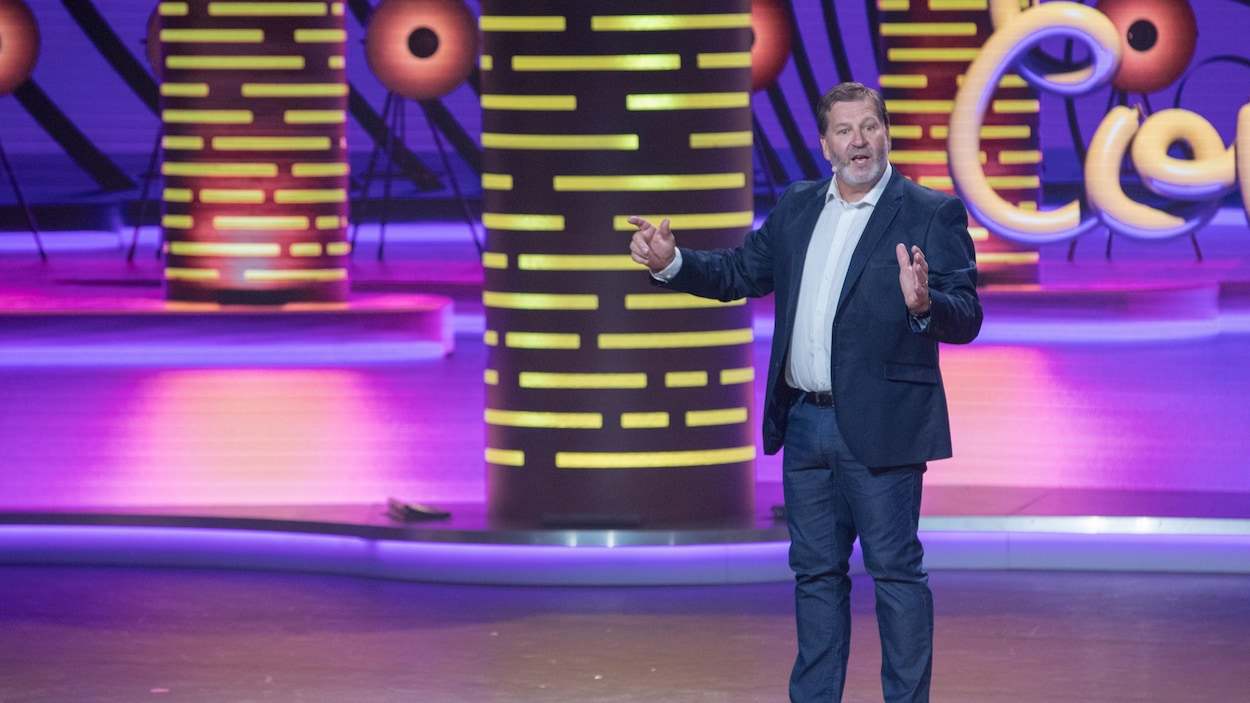 Mario Jean lors d'un gala ComediHa! 2019.