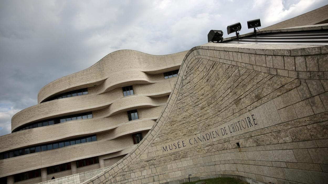 Façade du Musée canadien de l'histoire.