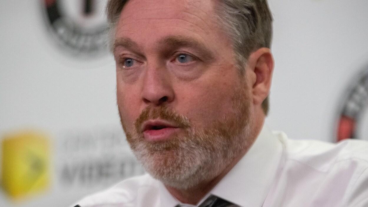 Patrick Roy, entraîneur et directeur général des Remparts de Québec.