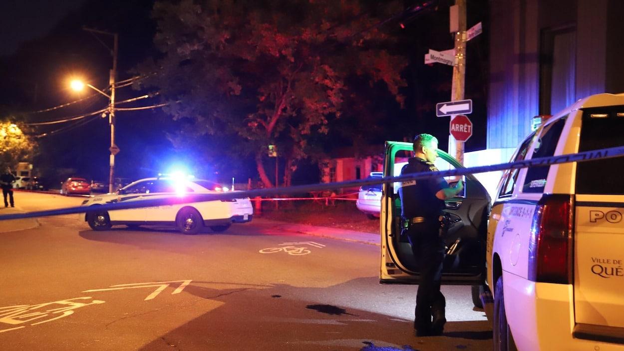 Une scène de crime, à Québec