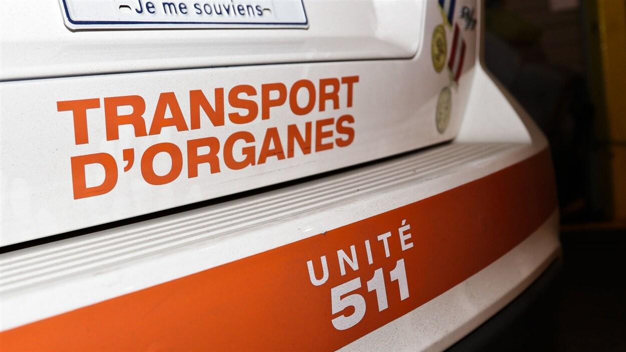 Véhicule de transport d'organes