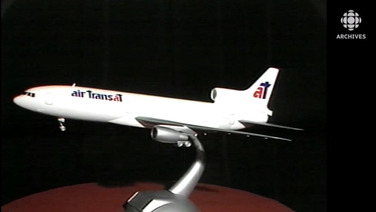 Maquette d'un avion de la flotte d'Air Transat