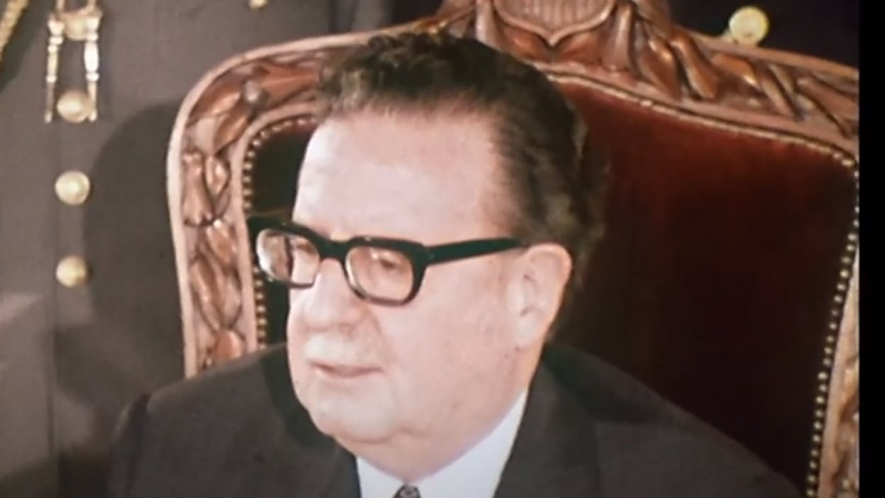 Le président Salvador Allende en 1973