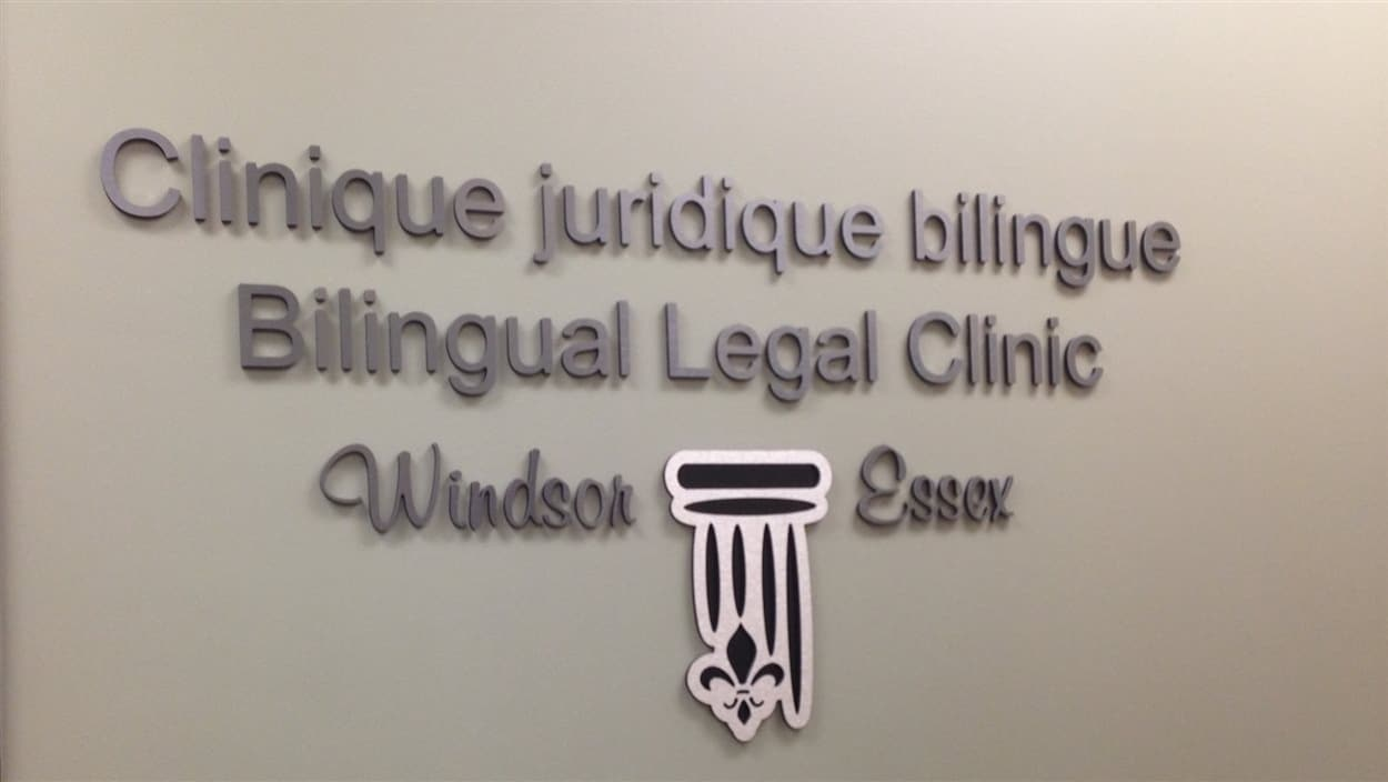 Affiche de la Clinique juridique bilingue de Windsor-Essex.