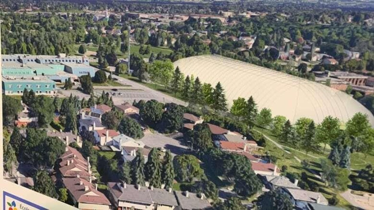 Une image du site où le dôme serait éventuellement construit à Orléans.