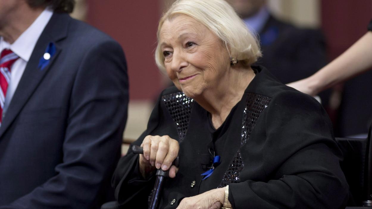 Lise Payette à la cérémonie de remise des Prix du Québec.