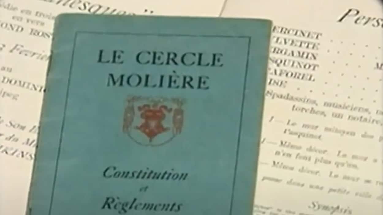 Livre de la constitution et des règlements du Cercle Molière.