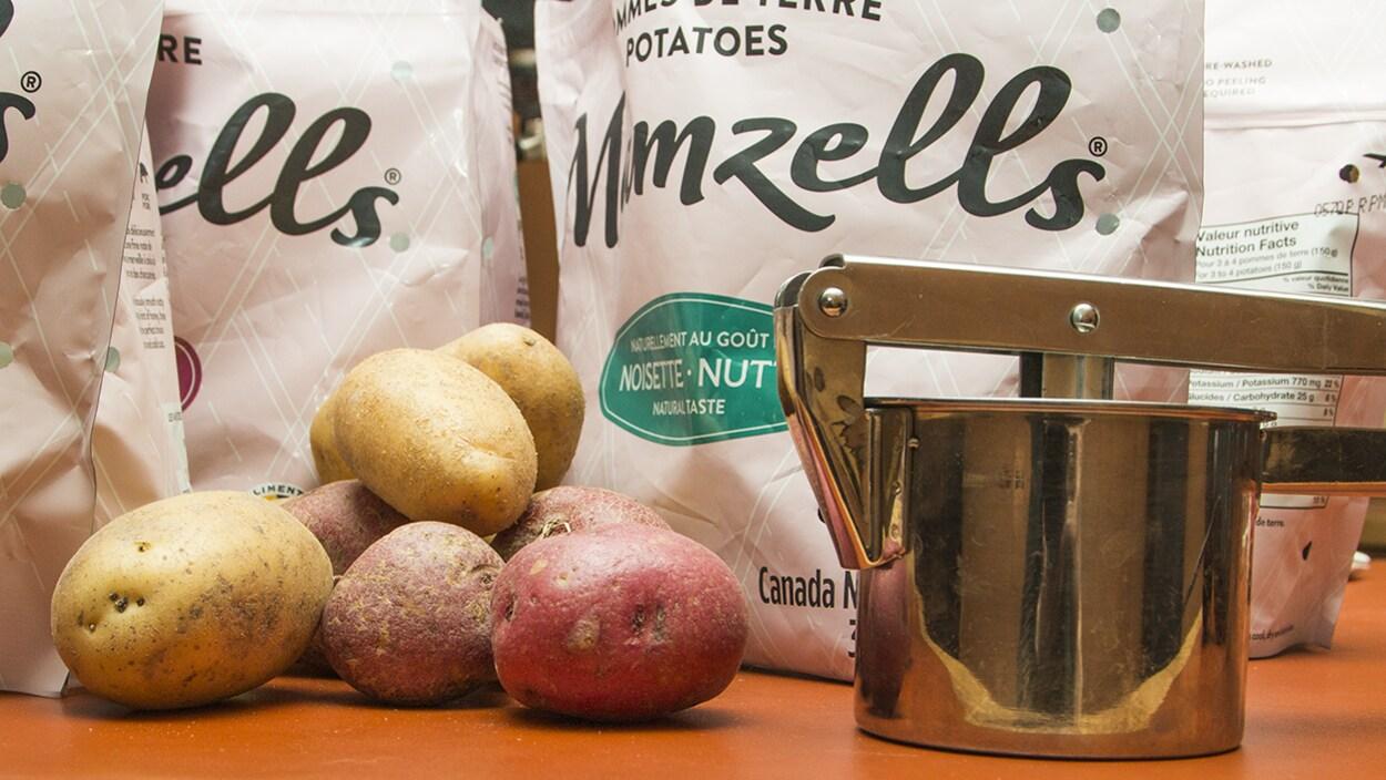 Des pommes de terre Mamzells et un pilon
