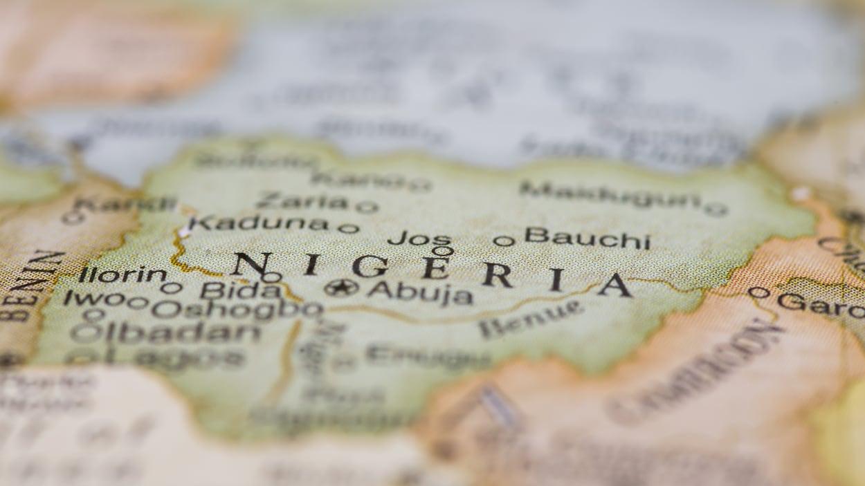 Une carte du Nigéria