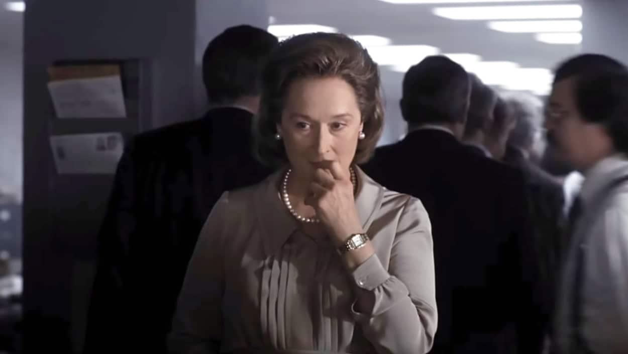 L'actrice Meryl Streep, dans son rôle pour le film « Le Post ».