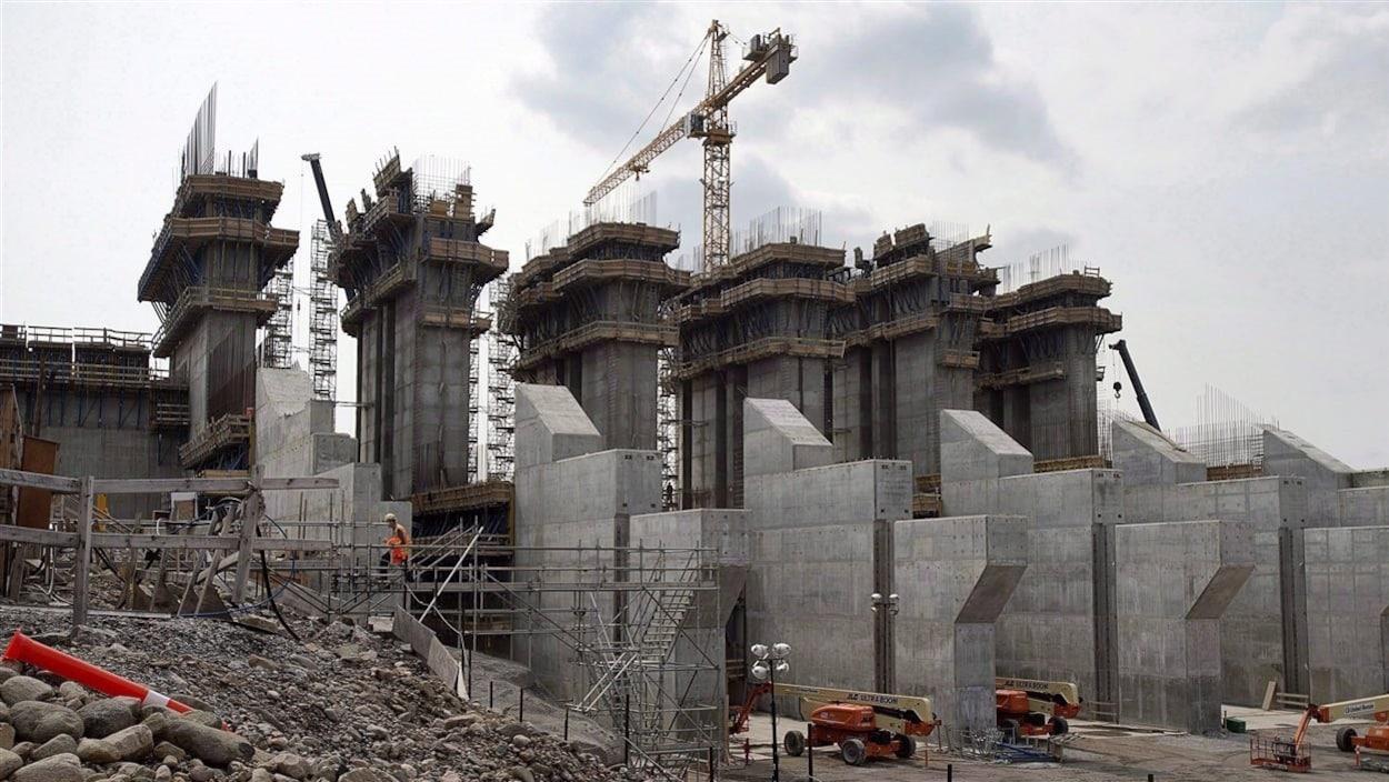 Le chantier de Muskrat Falls au Labrador, en juillet 2015