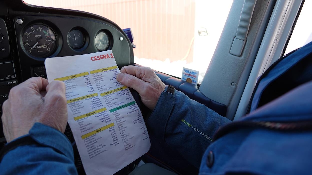 La feuille d'instruction du Cessna 172.