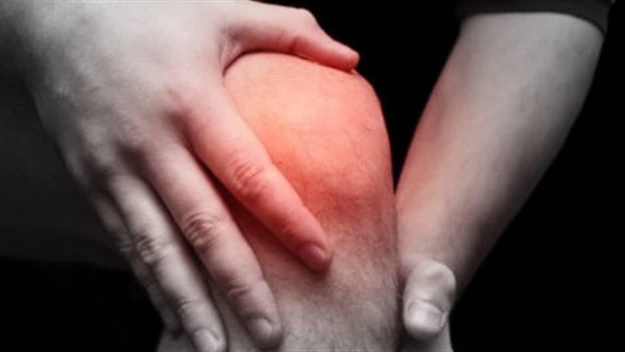 Un genou inflammé