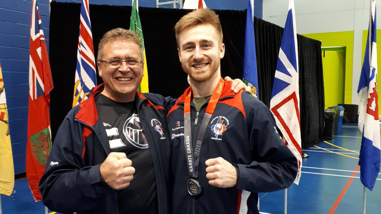 Roger St-Arneault et Alexandre St-Arneault lors du championnat canadien
