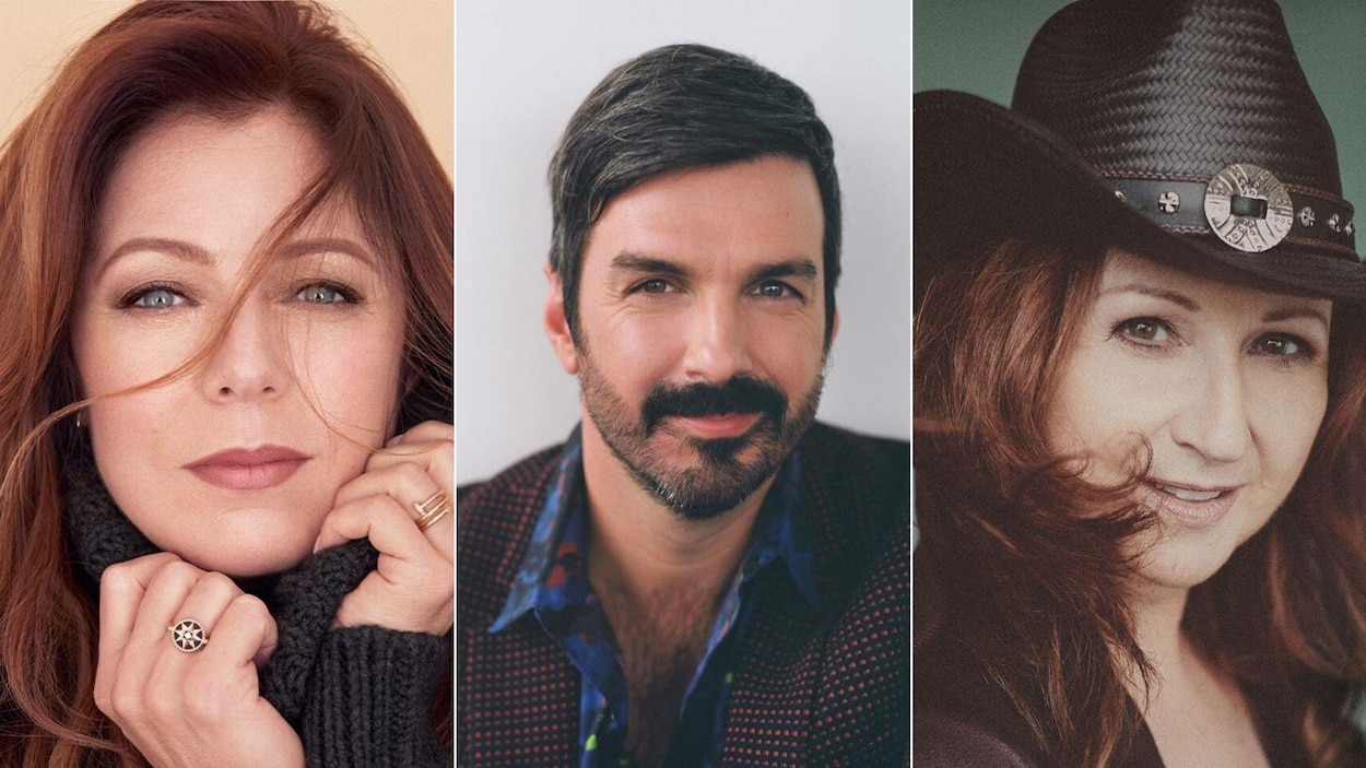 Un montage photo présentant des portraits de Isabelle Boulay, Damien Robitaille et Laurence Jalbert.