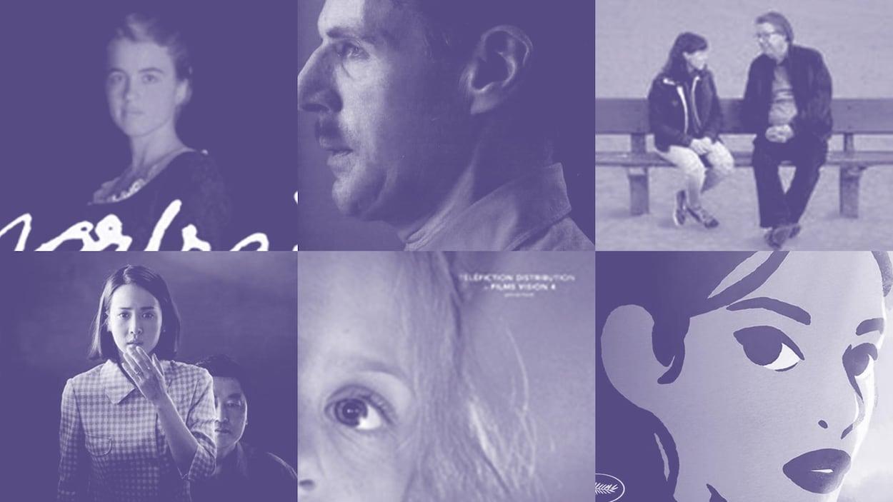 Un photomontage de six affiches de film.