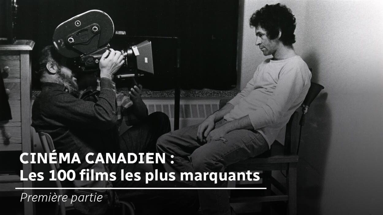 Michel Brault et Claude Gauthier lors du tournage du film  Les ordres