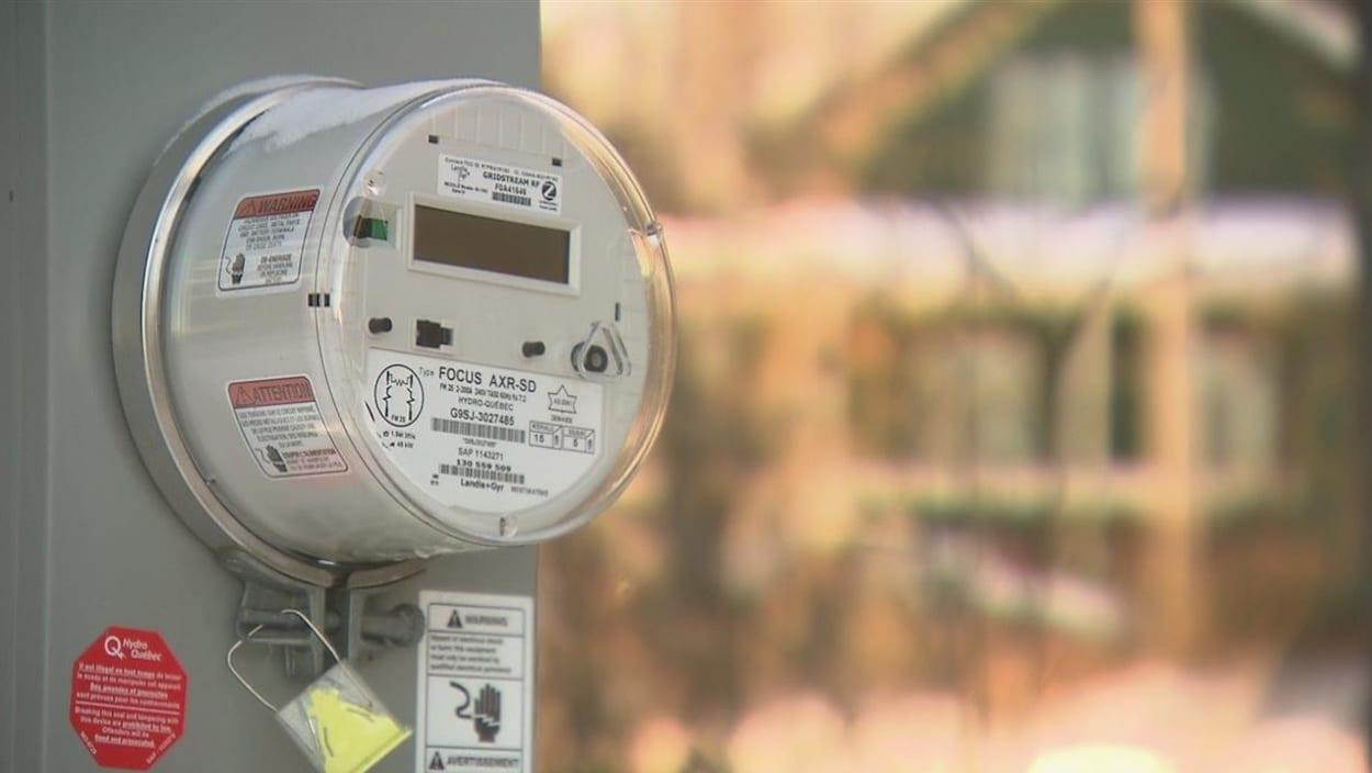 Un compteur intelligent d'Hydro-Québec.