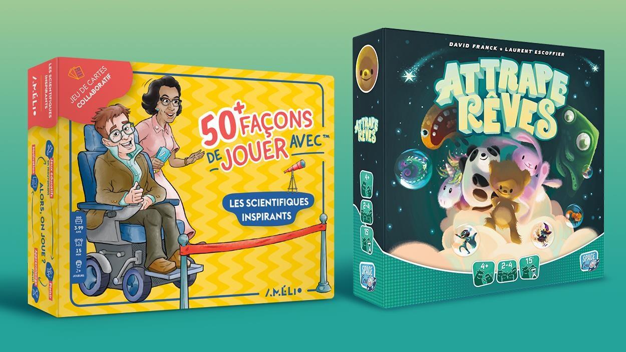 Deux boites de jeux jeunesse