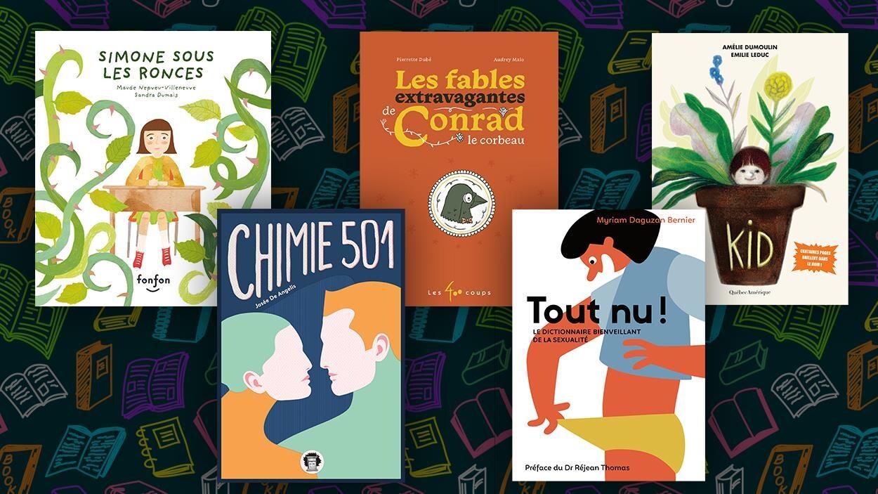 Couvertures des livres finalistes.