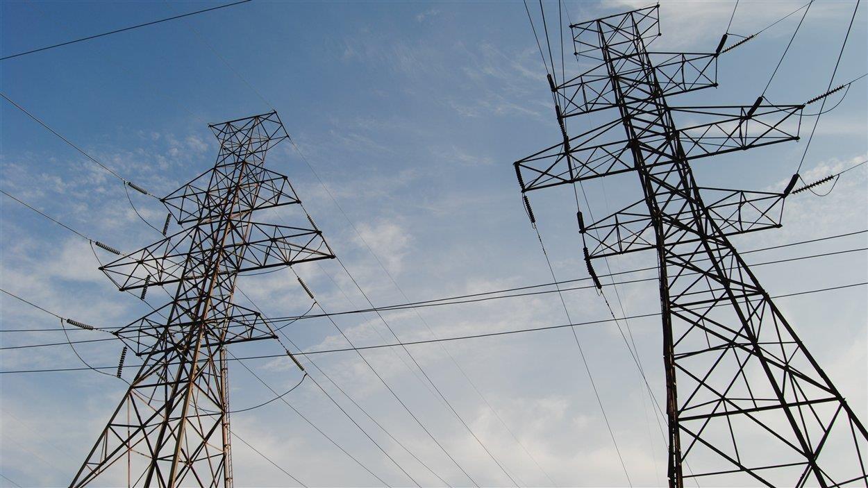 Des lignes électriques