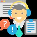Icone de services par téléphone et web