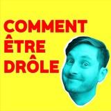 Le visage de Julien Corriveau, teinté de bleu, sur fond jaune pétant.