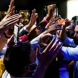 14 ਸਤੰਬਰ 2021 ਨੂੰ ਬ੍ਰੈਂਪਟਨ ਵਿਚ ਆਯੋਜਿਤ ਇੱਕ ਚੋਣ ਰੈਲੀ ਵਿਚ ਸ਼ਾਮਲ ਲਿਬਰਲ ਲੀਡਰ ਜਸਟਿਨ ਟ੍ਰੂਡੋ।