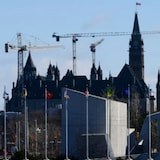 The National Holocaust Monument seen near the Parliament buildings. The federal government is holding a national summit on antisemitism.