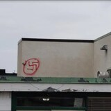 Baitul Hadi Mosque in Edmonton was recently vandalized with a swastika symbol.