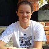 La chroniqueuse et entraineuse de basket-ball, Chantal Vallée
