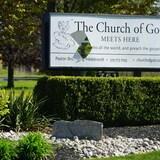 教堂外的标牌。